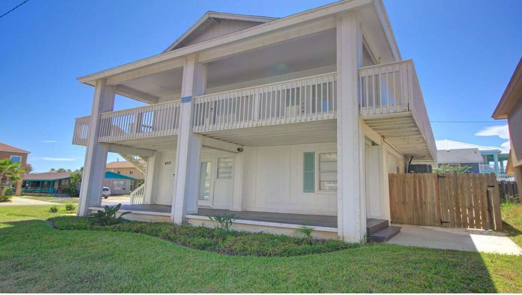 3 Bedroom 3 Bath House with Private Pool; across the street from the beach with partial views