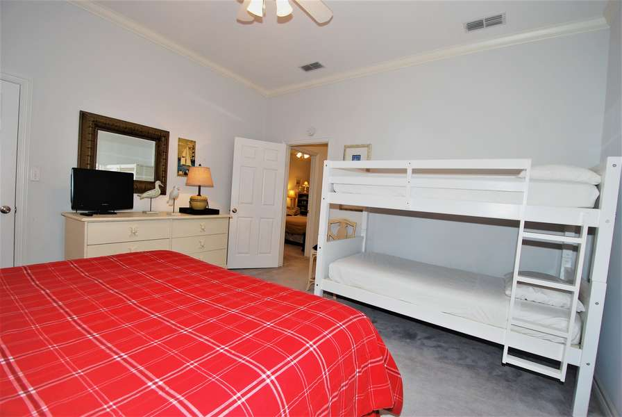 2nd Floor  - 3rd Bedroom;King size bed & twin over twin bunk bed