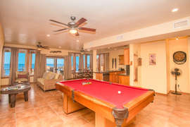 gaming level with pool table and big social area