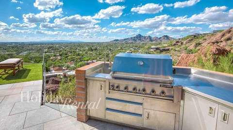 Built in BBQ overlooking the city views.