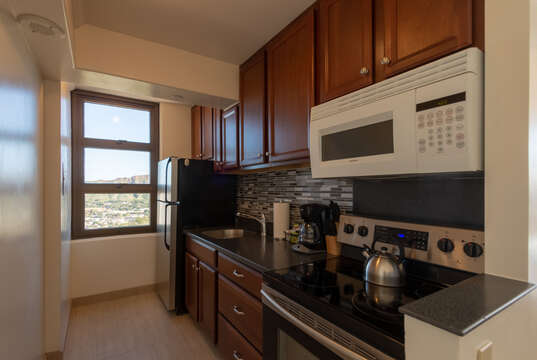 Newly remodeled kitchen with top of the line appliances