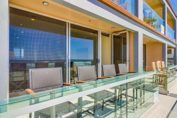 Outdoor Oceanfront Patio