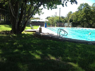 Big Stacy Pool is just a few blocks away, it's spring fed, free, and open year round.
