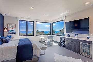 Master Bedroom with panoramic views of the ocean!