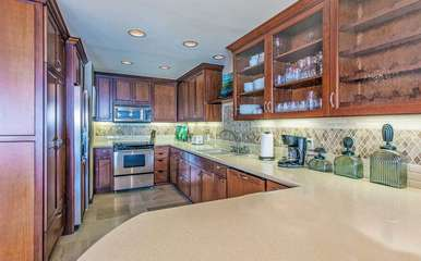 The upgraded kitchen
