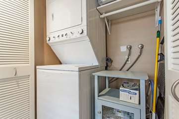 Washer and dryer inside the unit