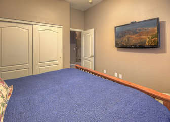 Yes, all 3 bedrooms also have televisions so guests can watch their choice of news, games and sitcoms