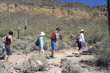 Mesa hiking and biking trails with spectacular vistas appeal to locals and visitors from near and far