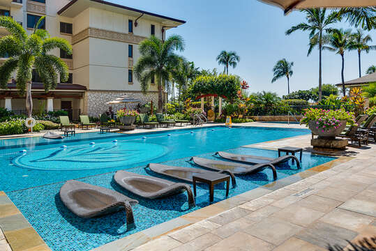 Water Loungers for Relaxing Near the Pool