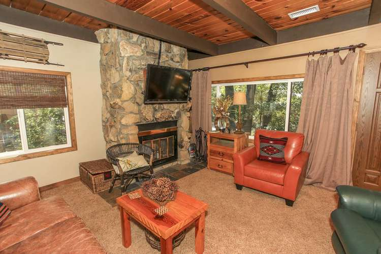 Mounted Flat Screen & Fireplace