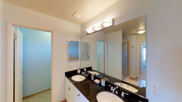Spacious Master Bath with Dual Sinks, Large Soaking Tub and a Walk-in Shower