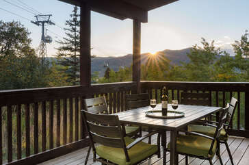 Wine and dine on the covered deck as the sun sets (seating for six)