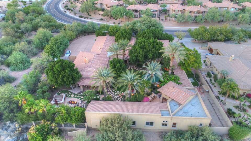 An ariel view of the property.