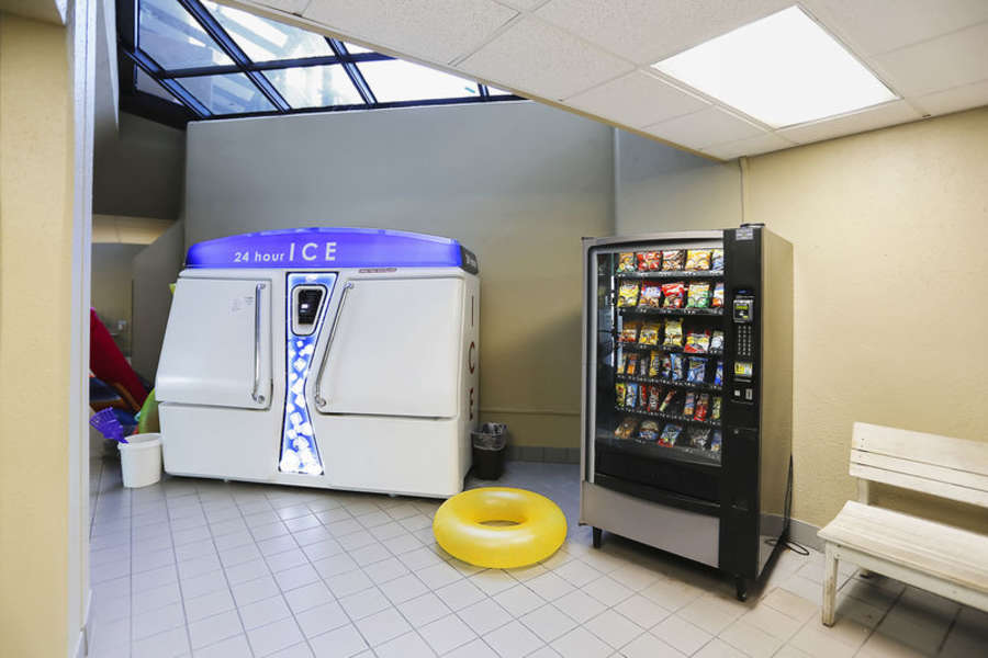Ice and Vending Machines located on the Ground Level