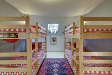 Bunk room on the upper level