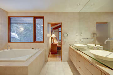 Main Level Master Bath with double sinks