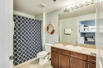 Better view of full master bath