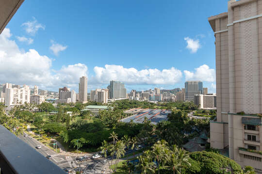 View from lanai towards the park