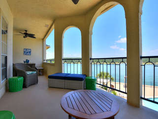Your view while sitting on the outdoor sofa on this INCREDIBLE Balcony!