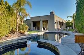 Full backyard shot with spa & pool