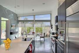 Beautiful kitchen counter view