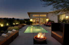 Amazing fire pit view