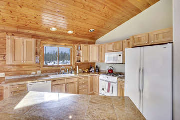 Full Kitchen, Granite counter tops, all the supplies you need for quality home cooking.