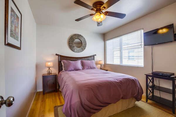 Bedroom two: queen bed