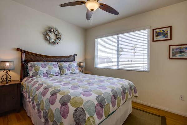 Bedroom three: queen bed