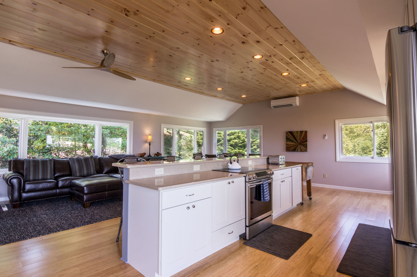 Kitchen with granite counters and stainless appliances