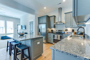 Open Concept Kitchen and Living Area