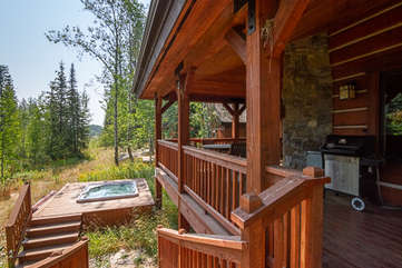 Side Stairs to Private Hot Tub