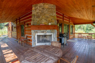 Outside Fireplace with Seating
