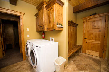 The washer and dryer is available for use while you stay at Bellview Inn.