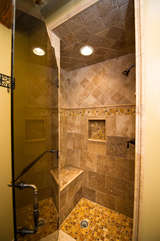 Master bathroom gorgeous tiled shower