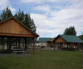 There are two picnic pavilions available for use.