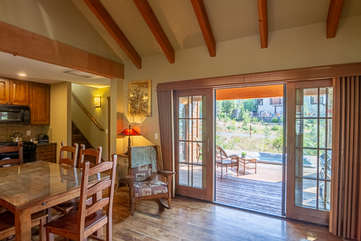 Dining and French Doors