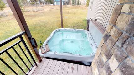 The hot tub is a great place to relax after a long day in the park.