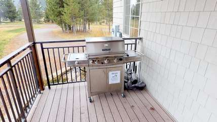 A grill is available for all your barbecuing needs.