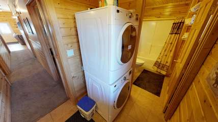 A washer and dryer available for your use while staying at Black Bear'ry Inn.