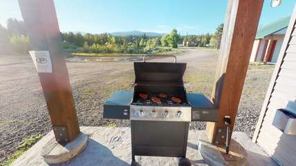 A barbecue available for all your grilling needs.