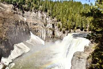 Mesa Falls in Island Park, Idaho