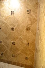Tiled shower in the bathroom