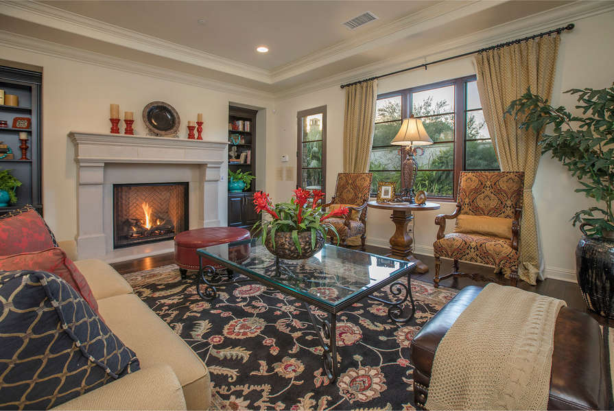Share memories by the fire in the Family Room