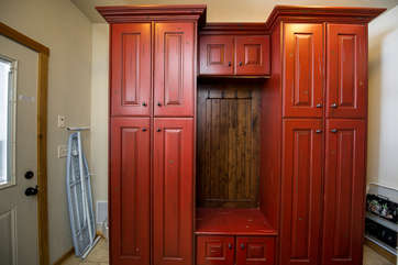 Entry way cabinets for coats and gear
