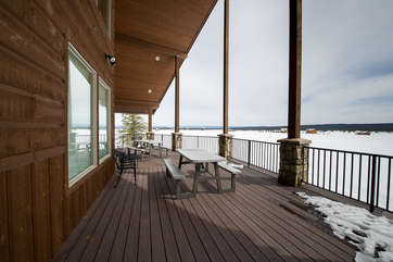 The front deck.