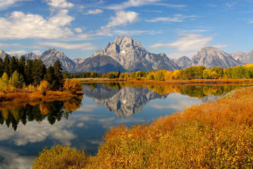 tetons in the fall season