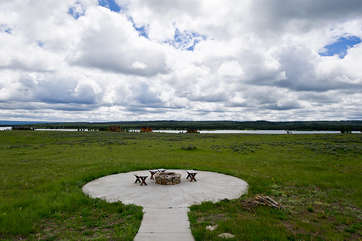 A fire pit is also available for you to use while staying at this gorgeous lodge.