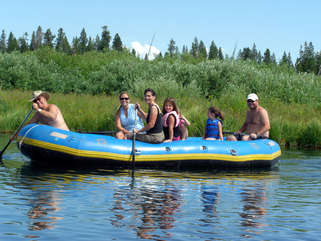 Rafting just 15 minutes from cabin.  Macs Inn offers rafts, canoes etc. to add to your family fun.