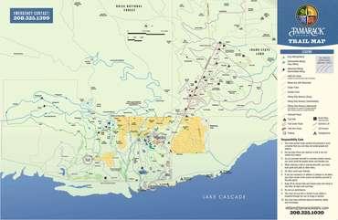 Hiking and Biking Trail Map